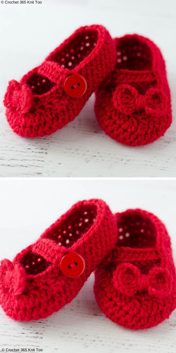Simple Lovely Mary Jane Baby Booties
