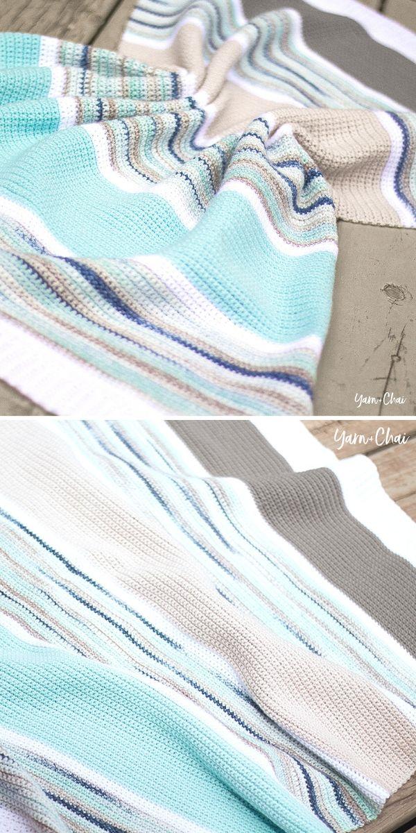 Summer Boardwalk Baby Blanket Free Crochet Pattern