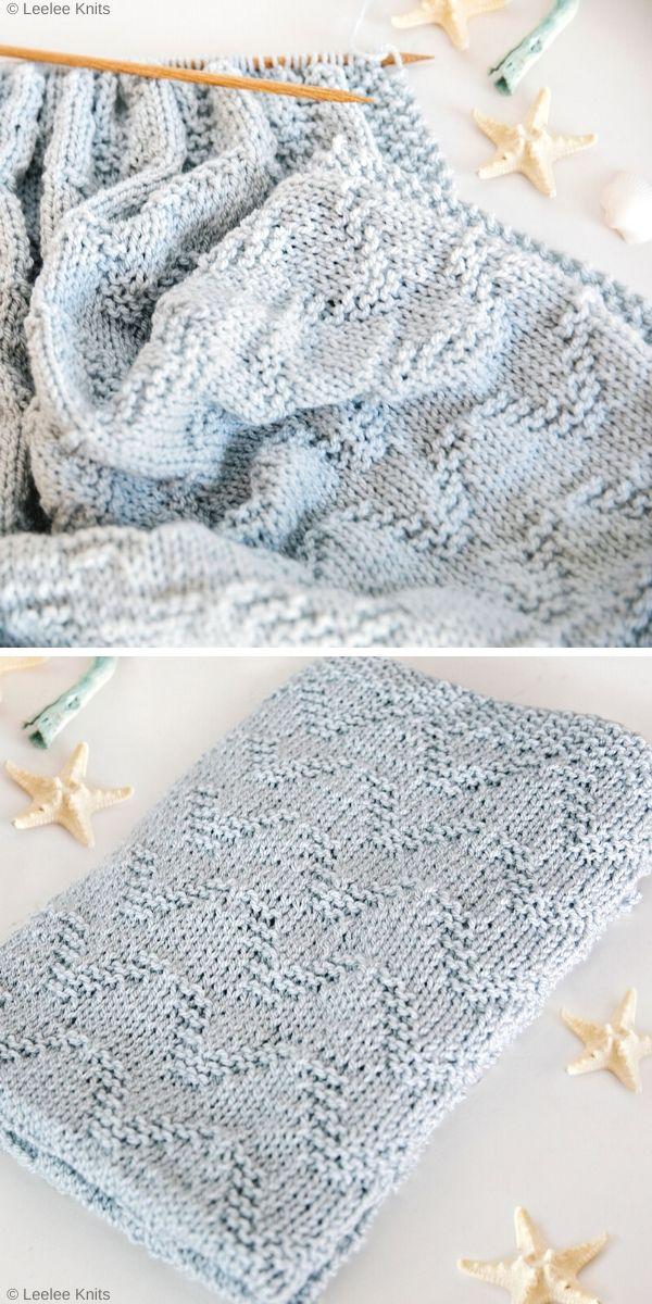 The Seaside Baby Blanket Free Knit Pattern