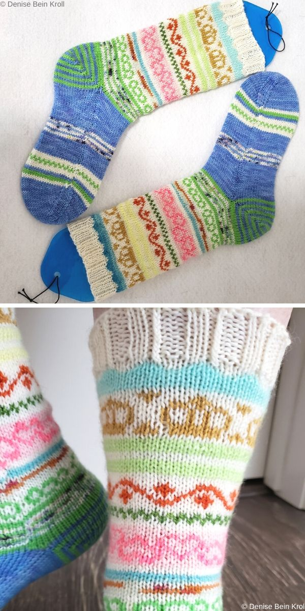This is Our Spring Socks Free Knit Pattern
