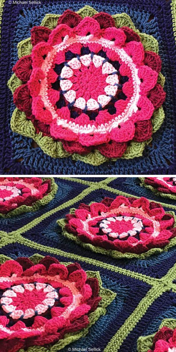 Water Lilies Afghan Free Croochet Pattern