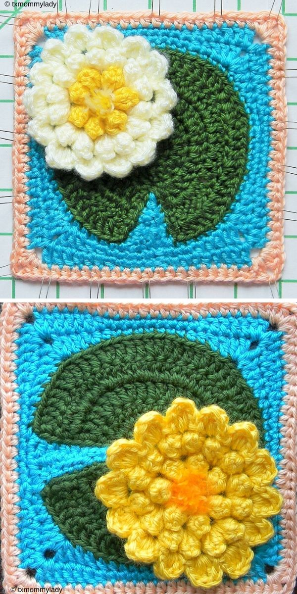 Water Lily Pad Granny Square