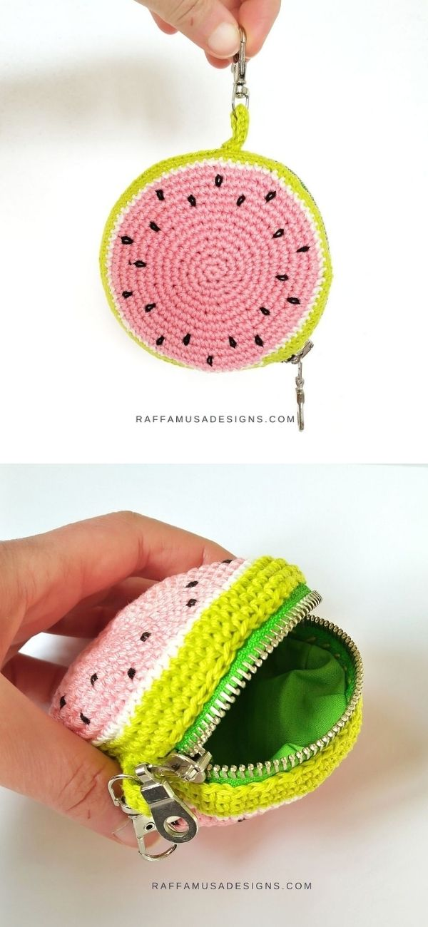 Watermelon Zipper Purse