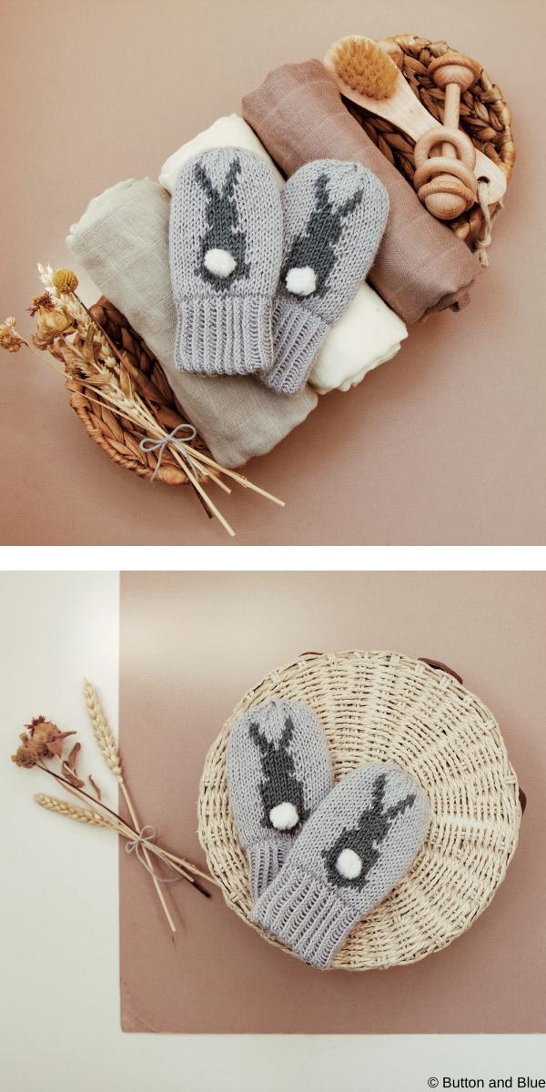 Bunny Mittens Free Knitting Pattern