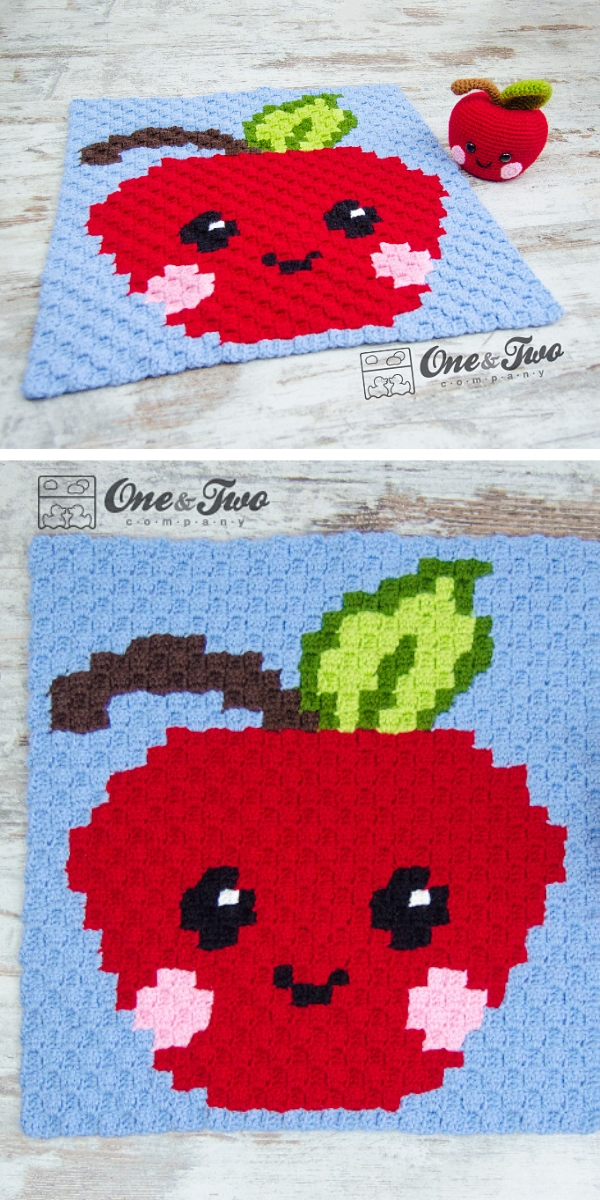 Alice the Apple C2C Blanket Free Crochet Pattern