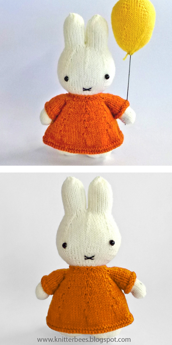 Miffy and her Balloon Free Knitting Pattern