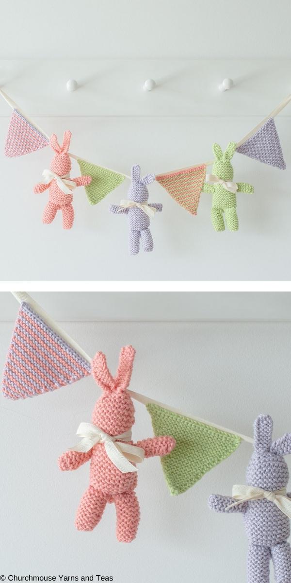 Baby Bunny & Bunting Free Knitting Pattern