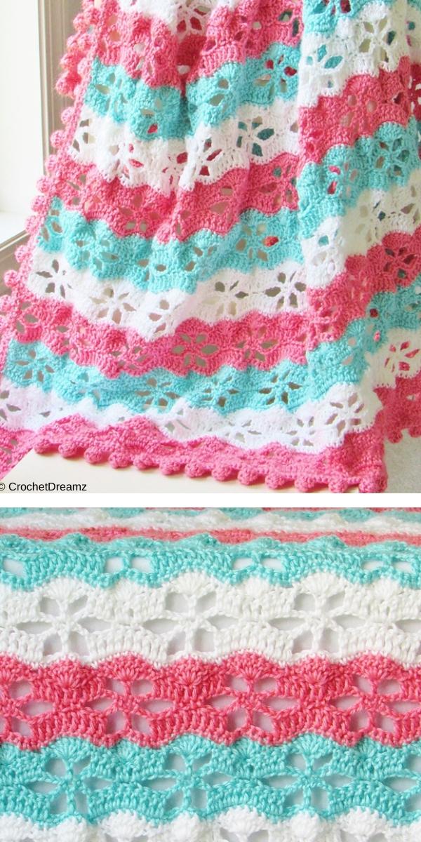 Twinkling Stars Blanket Free Crochet Pattern