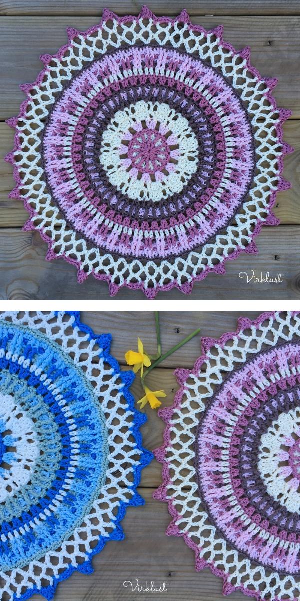 Spring Day Mandalas Free Crochet Pattern
