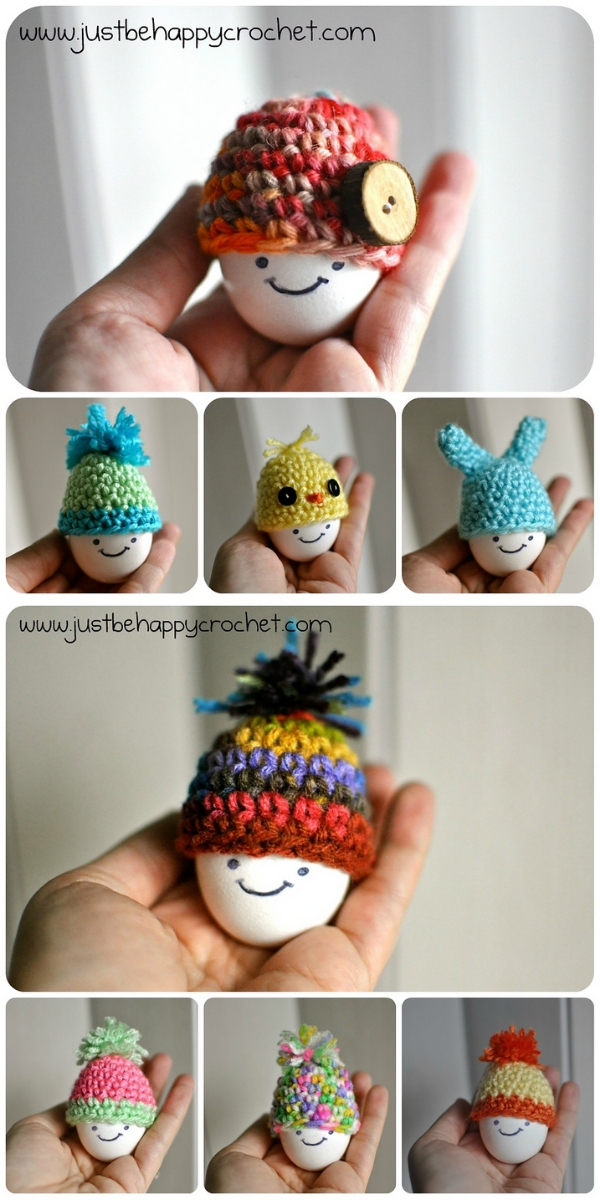 Egg Hats Free Crochet Pattern