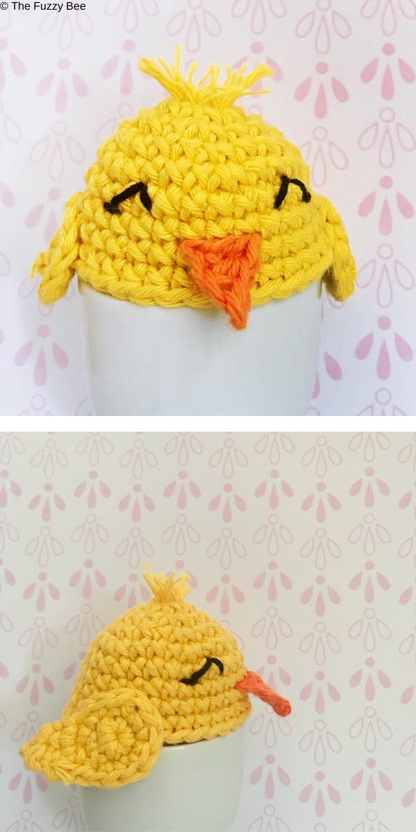 Easter Chick Egg Cosy Free Crochet Pattern