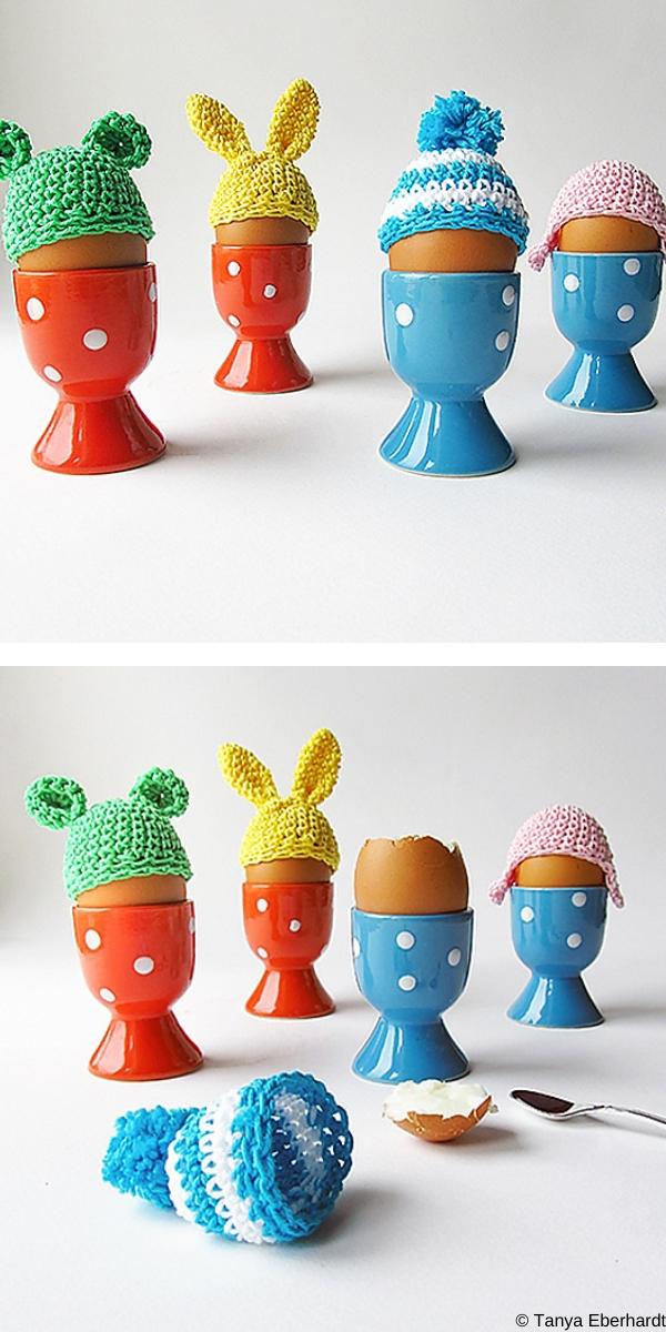 Easter Egg Beanies Free Crochet Pattern