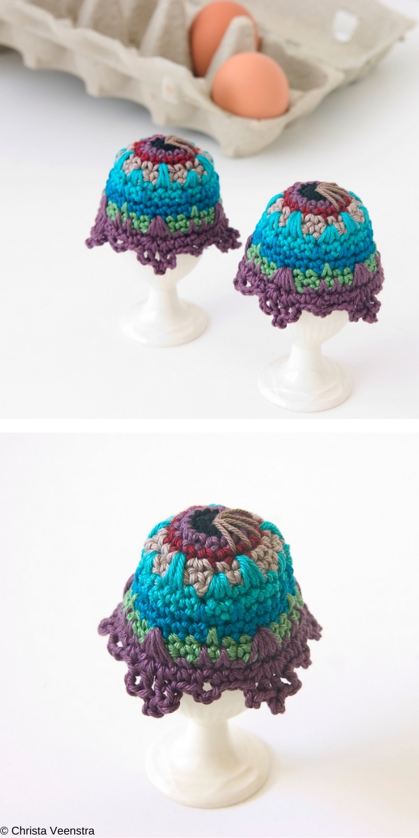 Egg Cozy Peacock Inspired Crochet Pattern