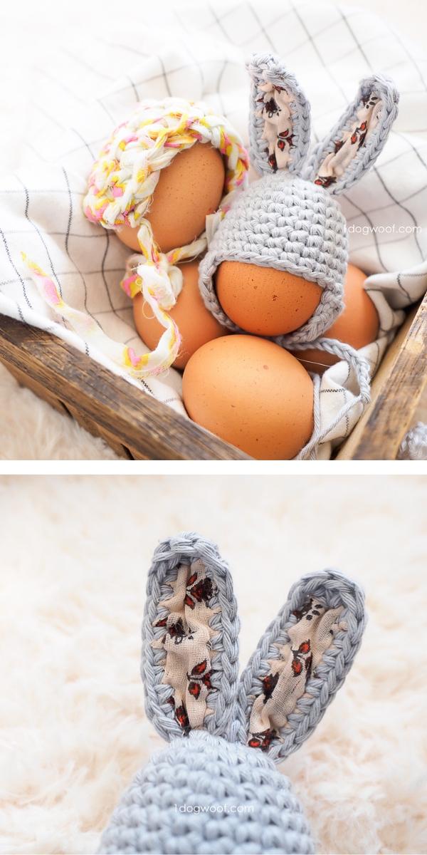 Easter Egg Mini Bunny Hat Free Crochet Pattern