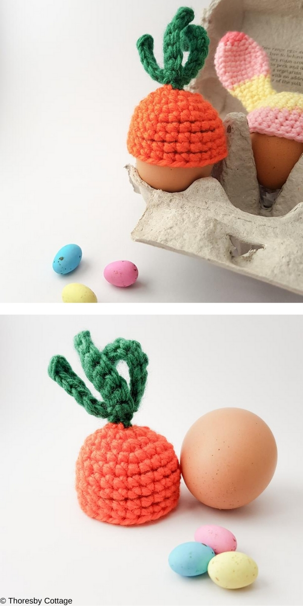 Carrot Top Egg Cosy Free Crochet Pattern