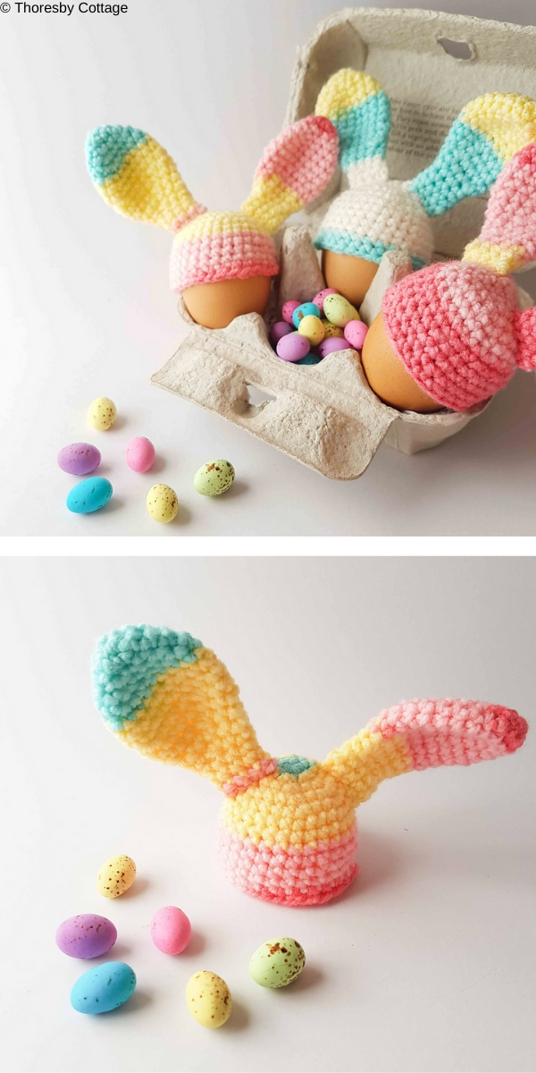 Bunny Ears Egg Cosy Free Crochet Pattern