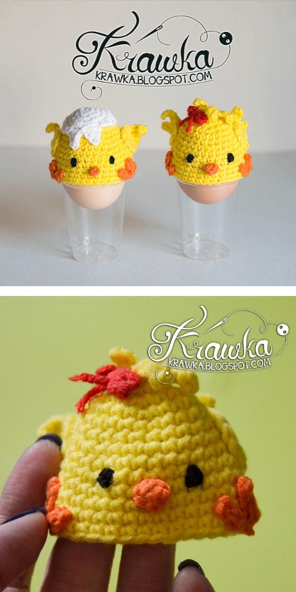 Easter Chicks Egg Cozies Free Crochet Pattern