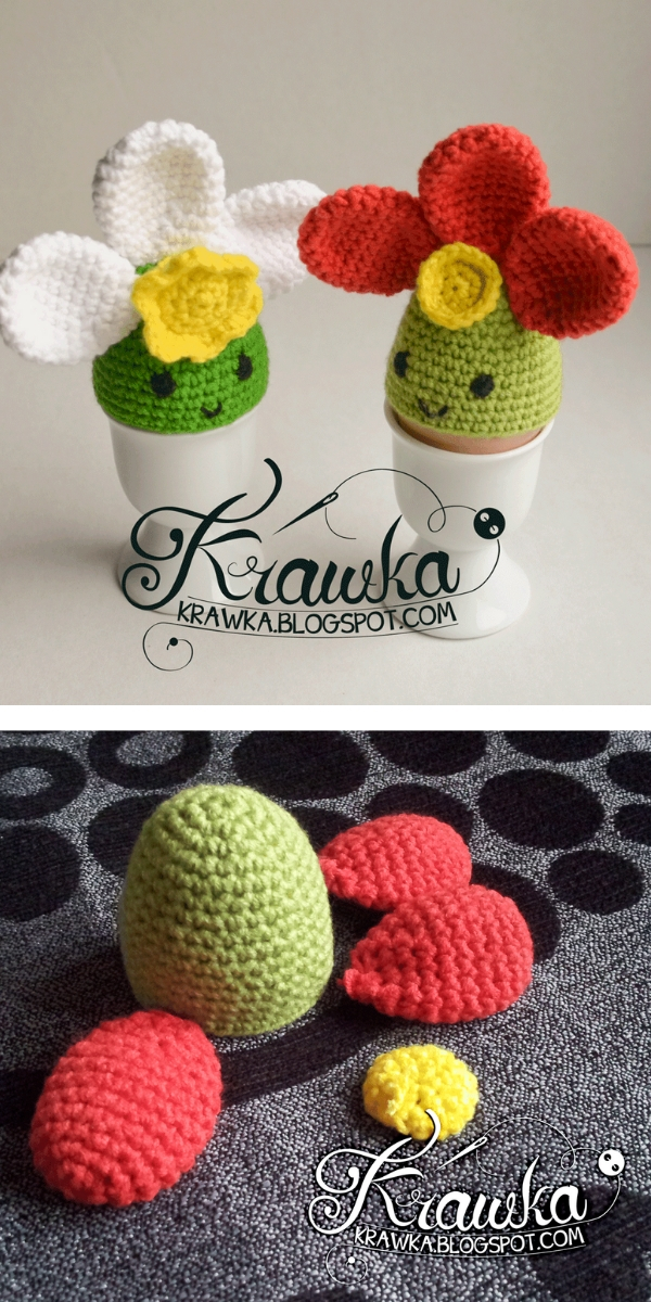 Spring Flowers Egg Cozies Free Crochet Pattern