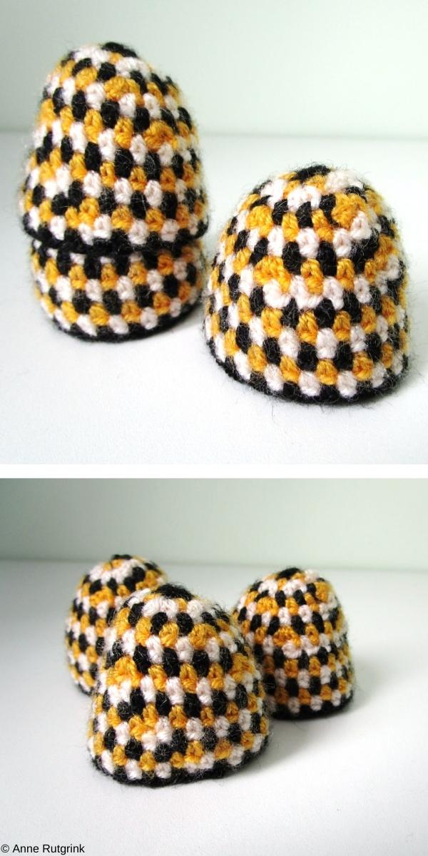Bee Egg Cozy Free Crochet Pattern