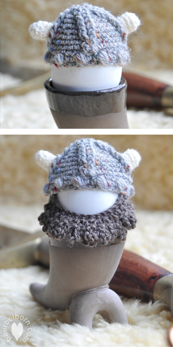 Viking Egg Cozy Free Crochet Pattern