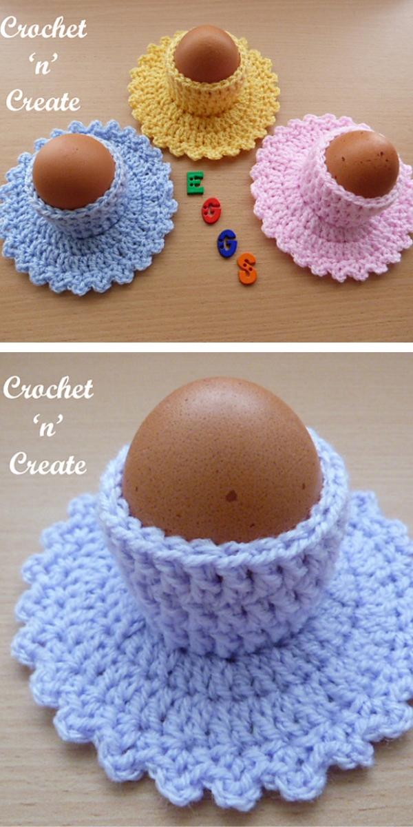 Egg Cup & Saucer Free Crochet Pattern