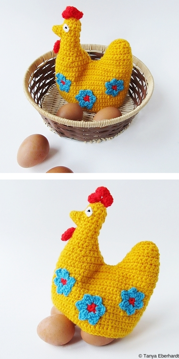 Crochet Easter Hen Egg Cozy Free Crochet Pattern