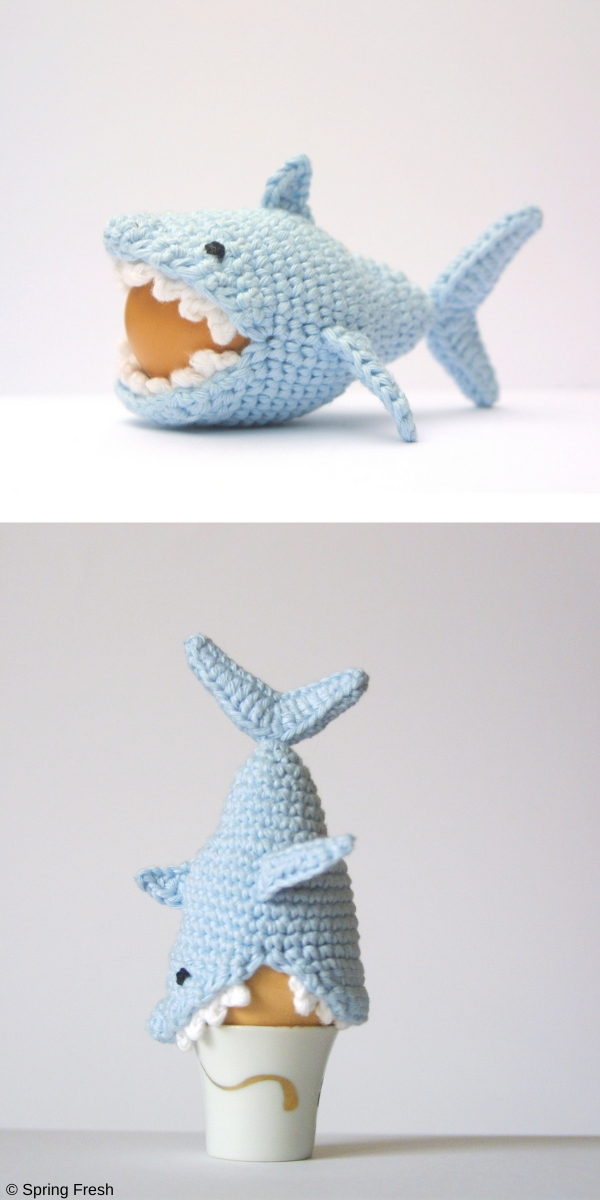 Crochet Shark Egg Cozy Crochet Pattern
