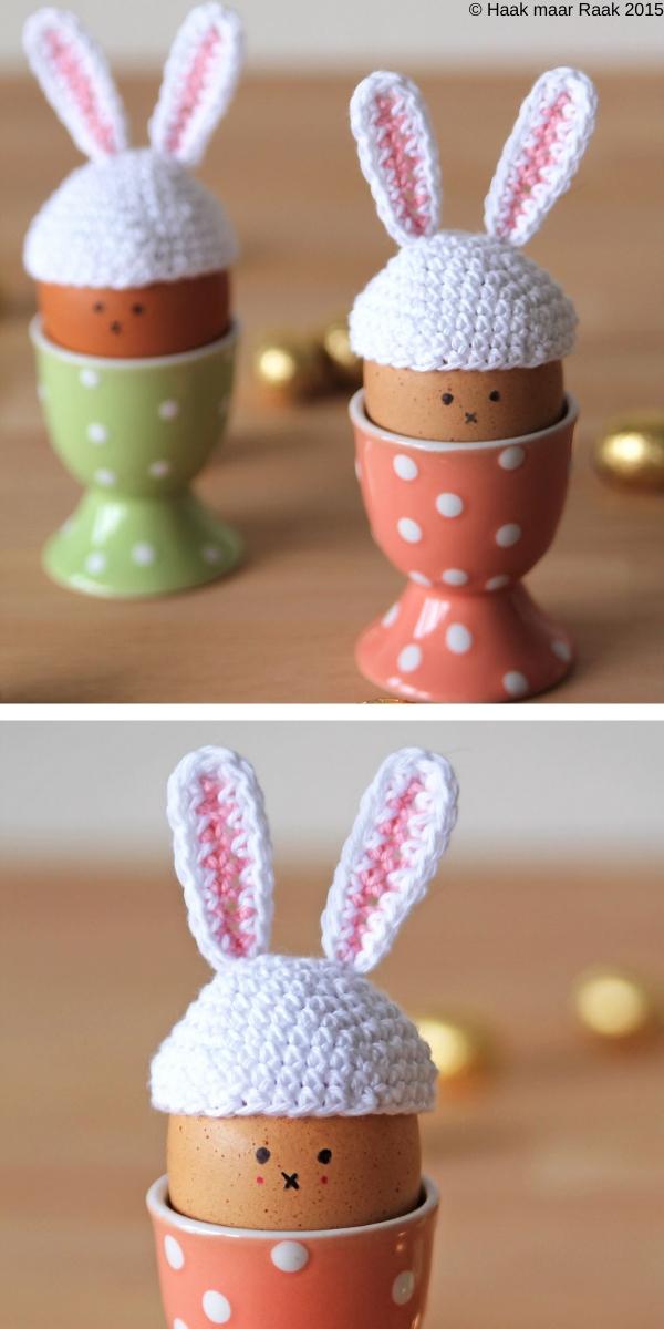 Easter Bunny Egg Hat Free Crochet Pattern