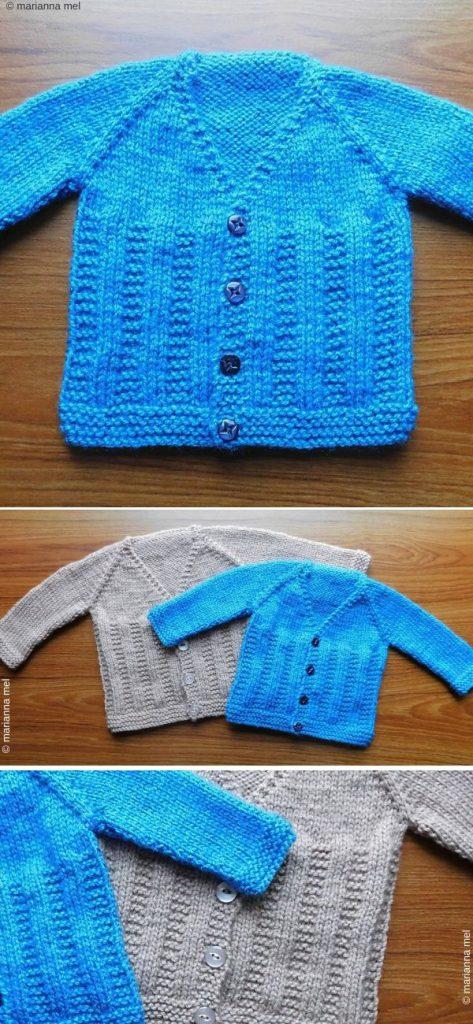 BEN Baby Cardigan Jacket Free Knitting Pattern