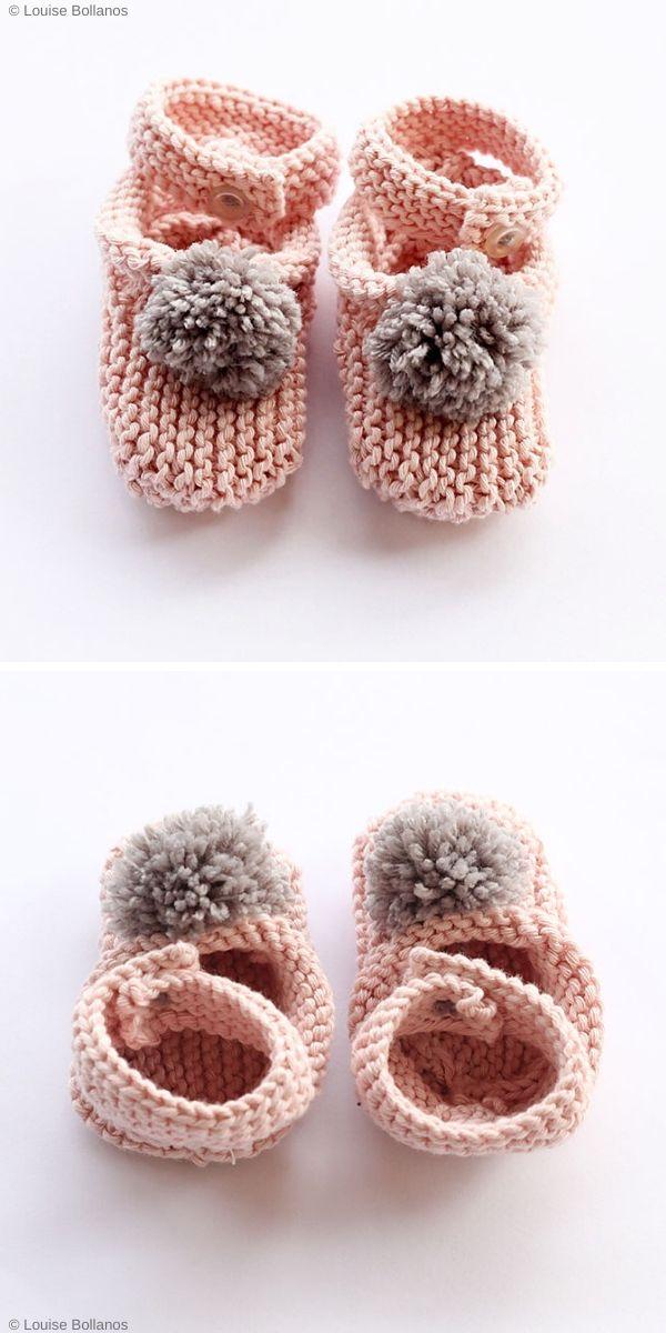 Baby SlippersFree Knitting Pattern
