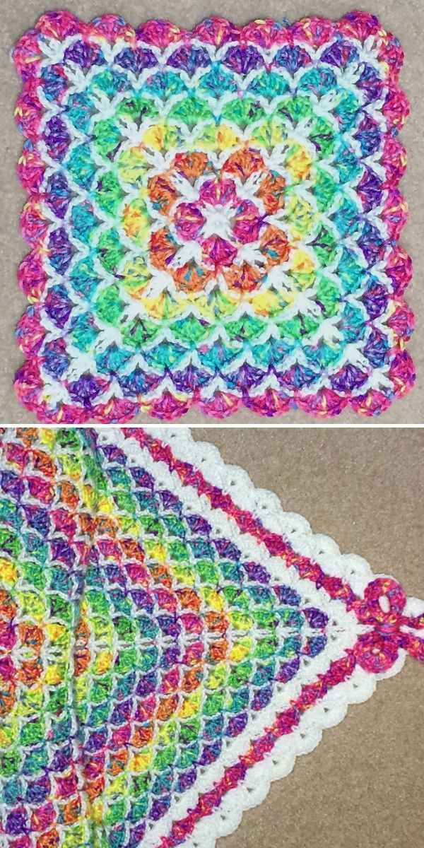colorful shells blanket