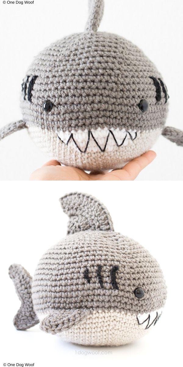 Bernard the Ball Shark Free Crochet Pattern