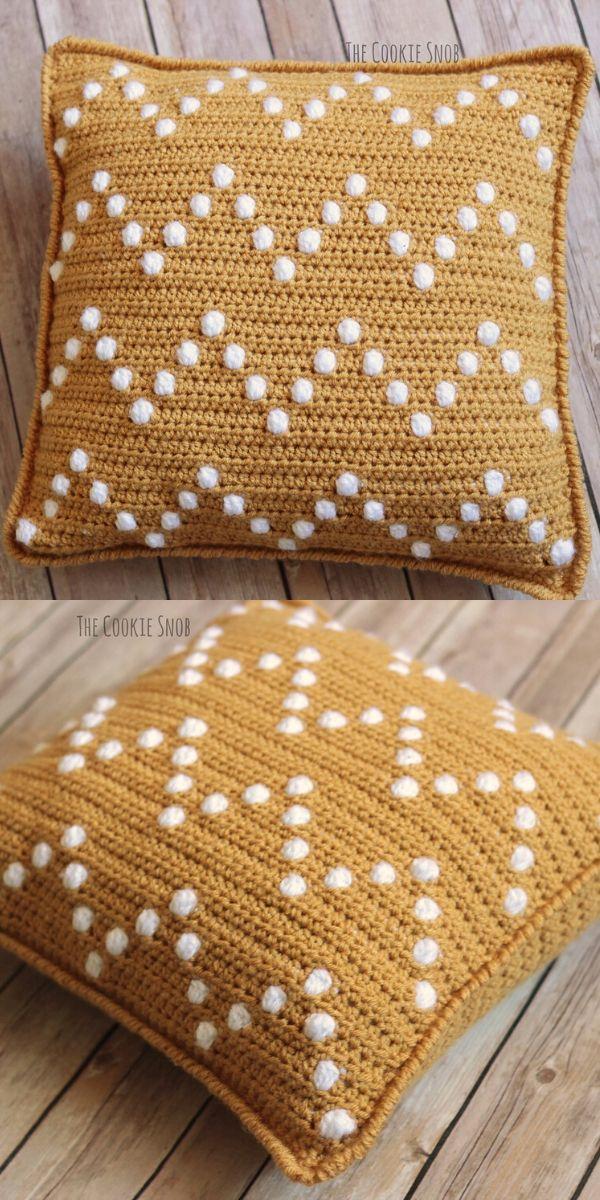 Bobble-Wobble Pillow Free Crochet Pattern