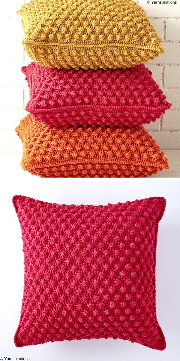 Bobble-licious Pillows Free Crochet Pattern