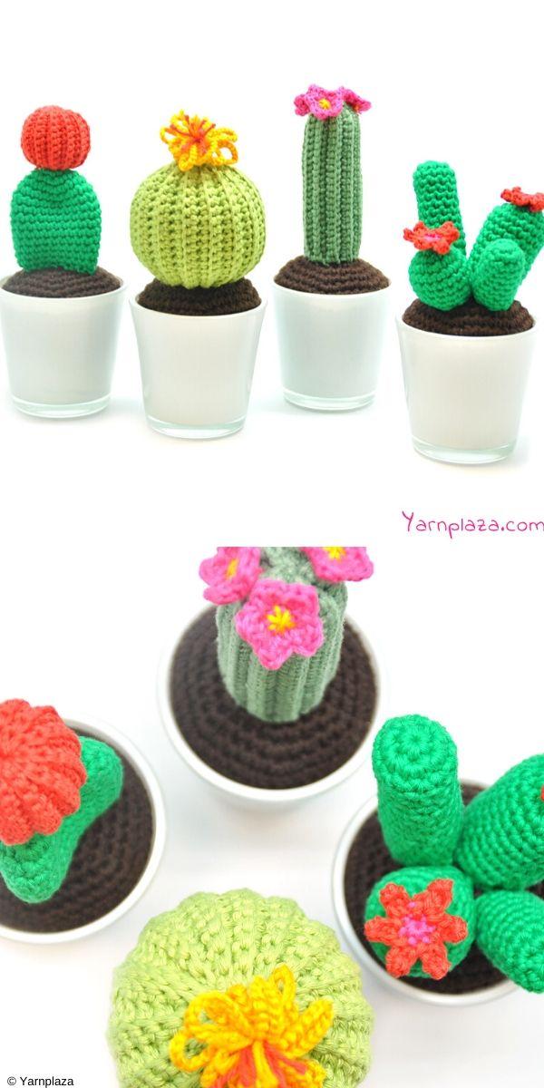 Cactus Free Crochet Pattern