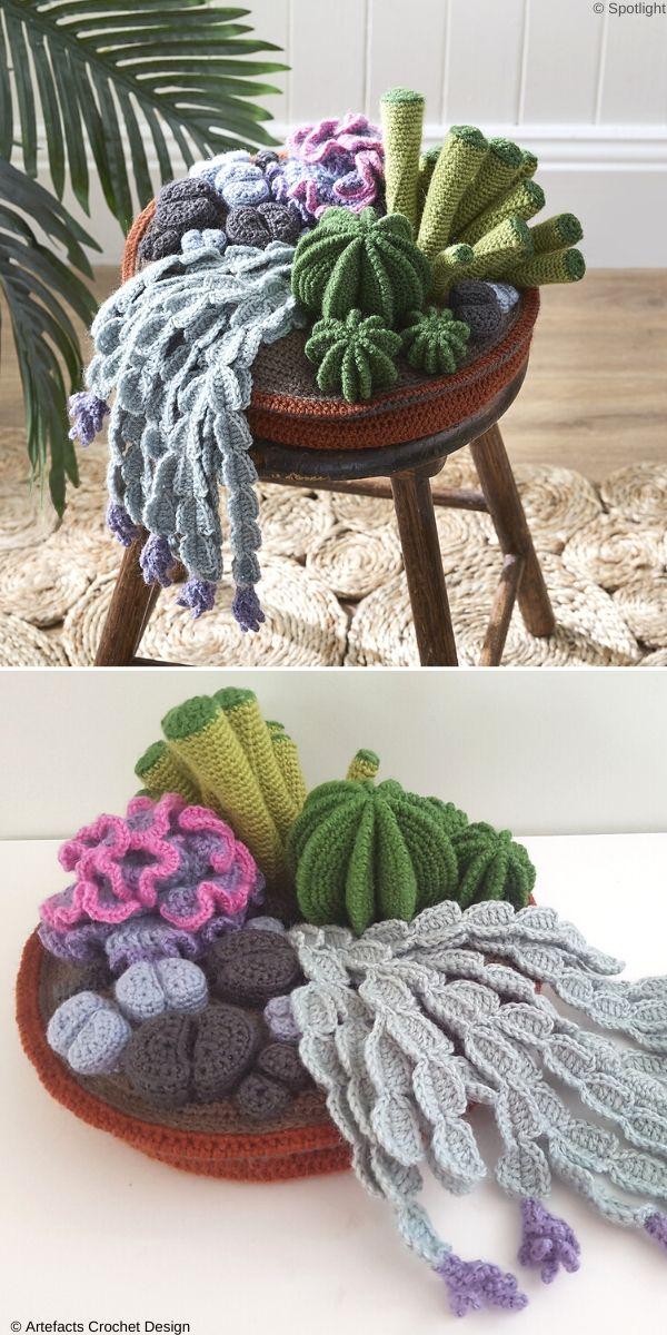 Cactus Garden Free Crochet Pattern