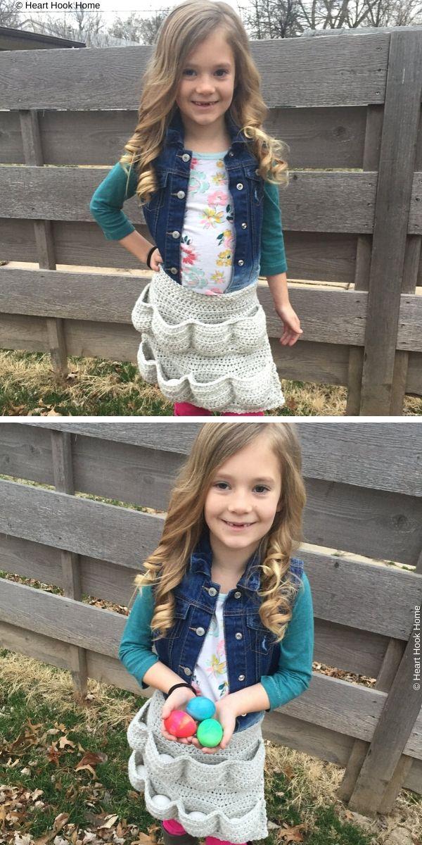 Child Size Egg-cellent ApronFree Crochet Pattern