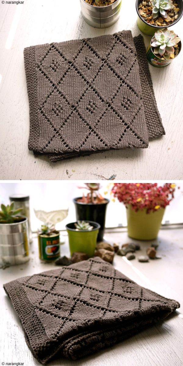 Chocolate Parfait Baby Blanket Free Knit Pattern