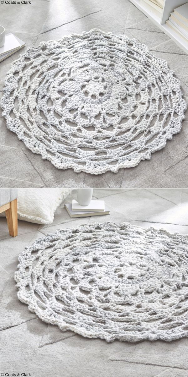 Comforting Rug Free Crochet Pattern