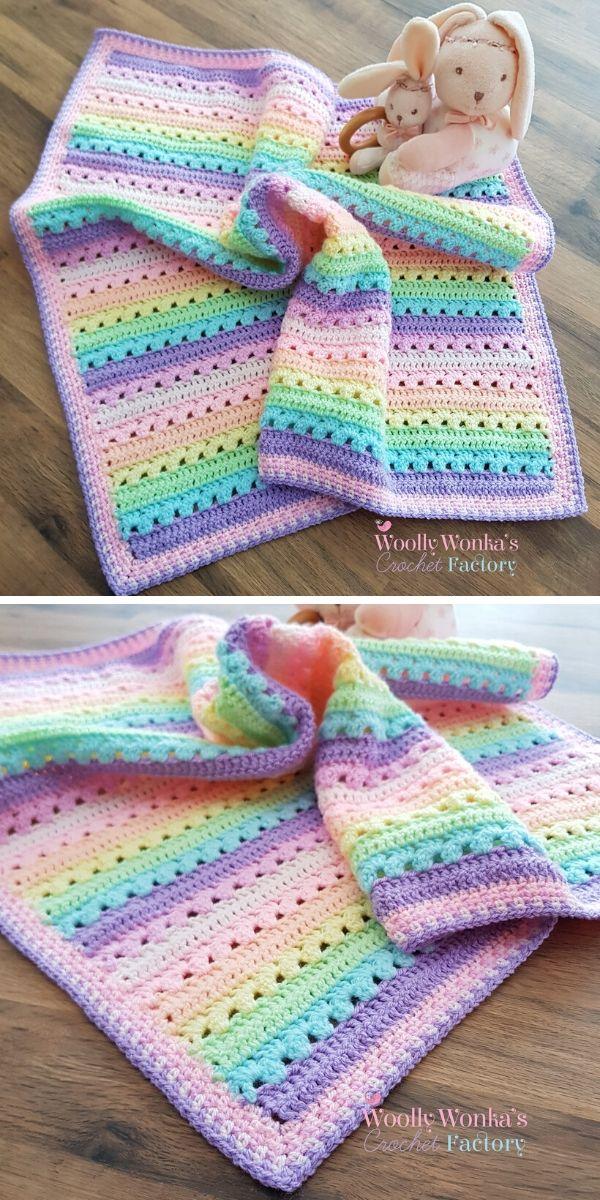 Cosy Stripe Blanket Free Crochet Pattern