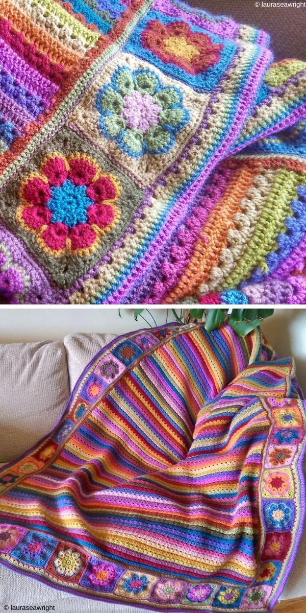 Cosy Stripe Blanket Free Crochet Pattern_1