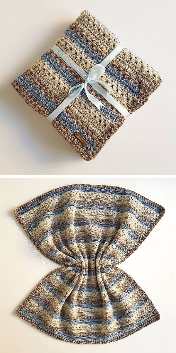 Cosy Stripe Blanket Free Crochet Pattern_2