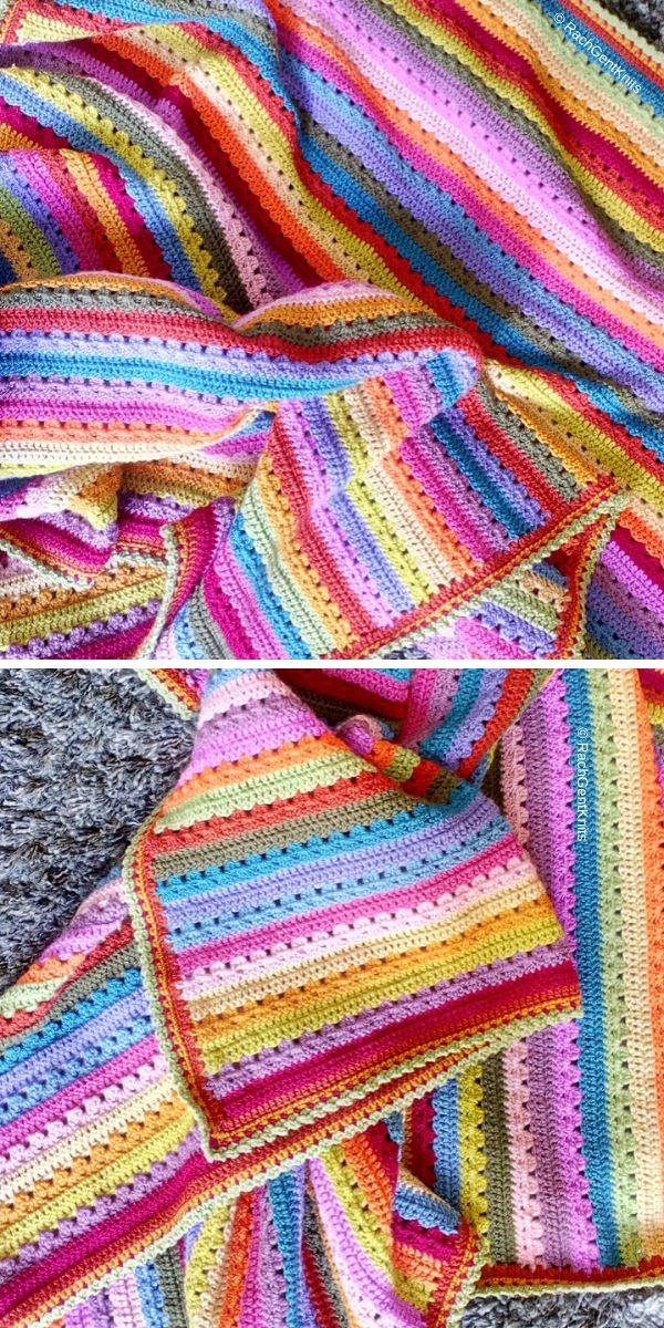 Cosy Stripe Blanket Free Crochet Pattern_3