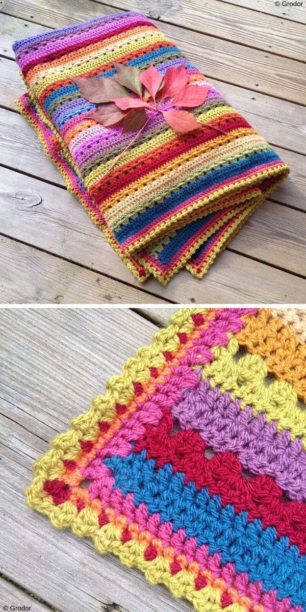 Cosy Stripe Blanket Free Crochet Pattern_4