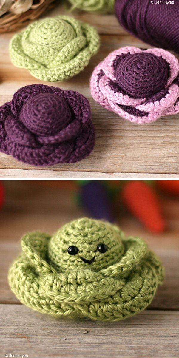 Cottage Garden Cabbage Free Crochet Pattern