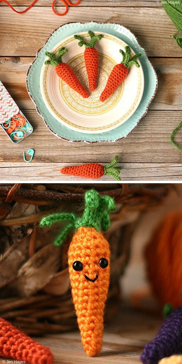 Cottage Garden Carrots Free Crochet Pattern