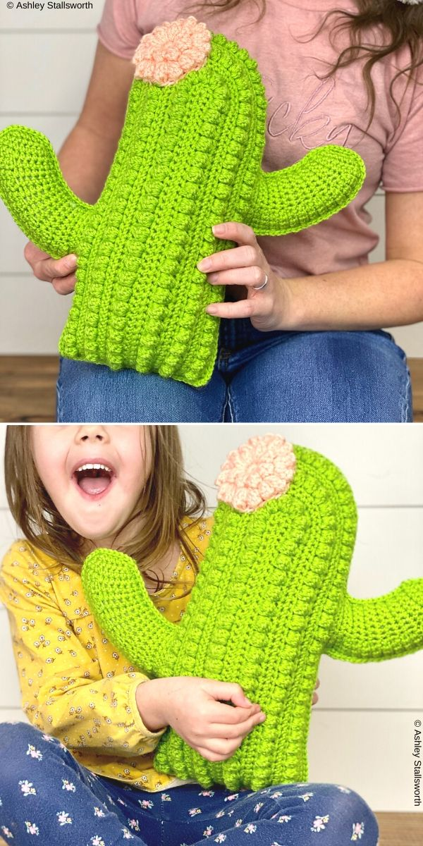 Crafty Cactus Pillow 2020 l Free Crochet Pattern