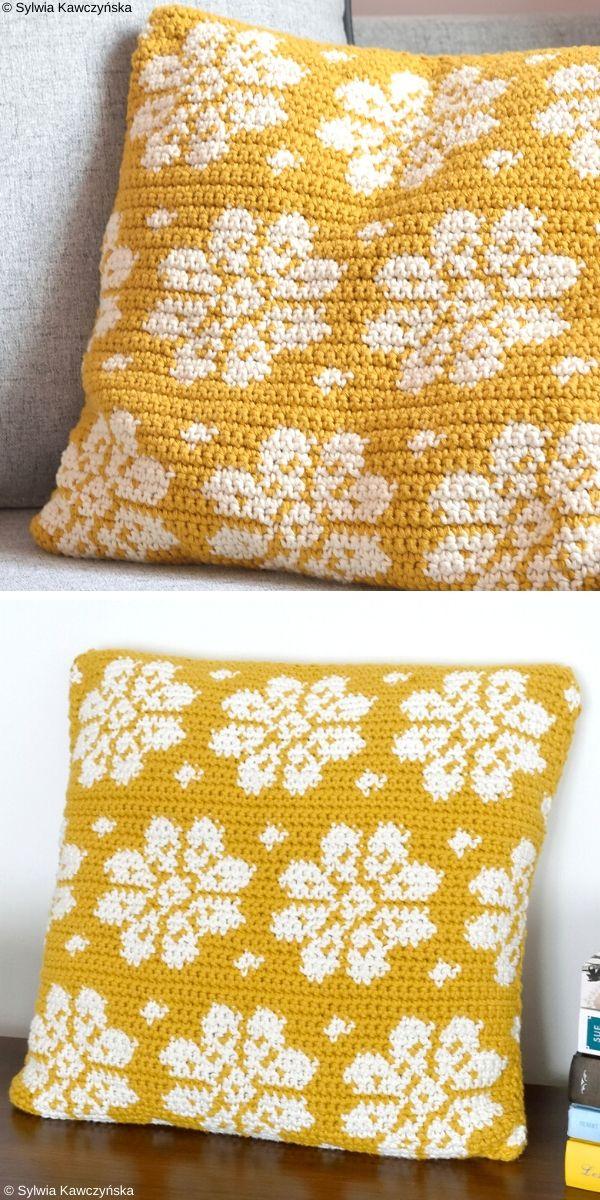 Dahlia Pillow Free Crochet Pattern