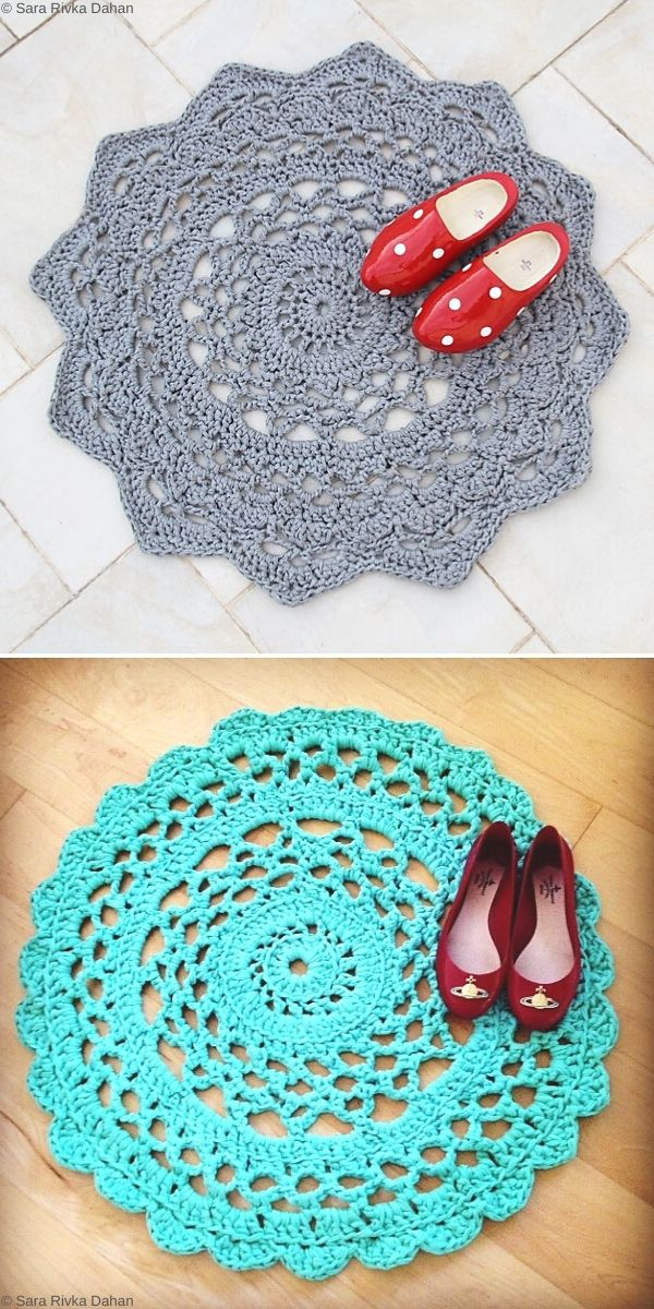 Doily Rug Free Crochet Pattern
