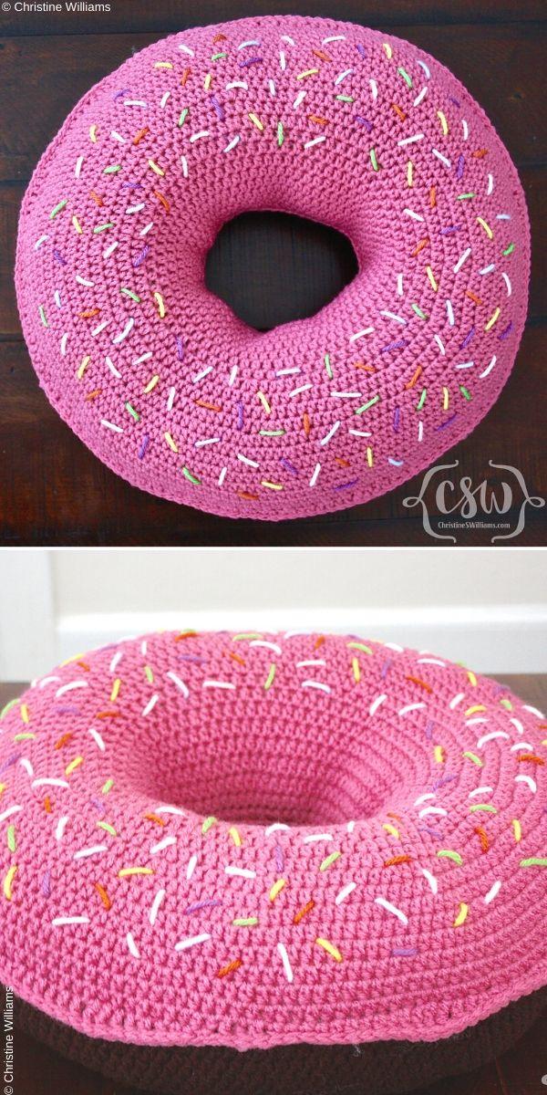Donut Pillow Free Crochet Pattern
